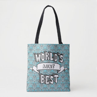 World's Best Blank Typography Text Tote Bag