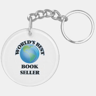 World's Best Book Seller Double-Sided Round Acrylic Key Ring