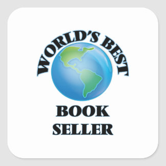 World's Best Book Seller Square Sticker