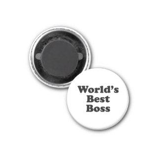 World's Best Boss 3 Cm Round Magnet