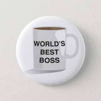 World's Best Boss 6 Cm Round Badge