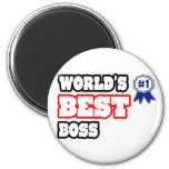 World's Best Boss 6 Cm Round Magnet