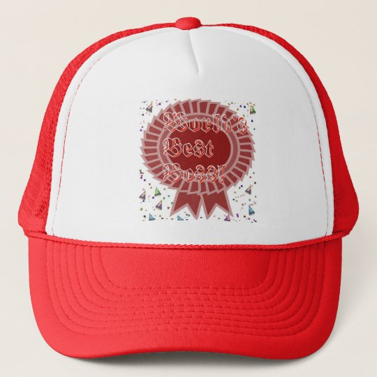 Worlds Best Boss Award Trucker Hat