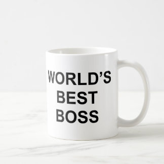 World's Best Boss Basic White Mug