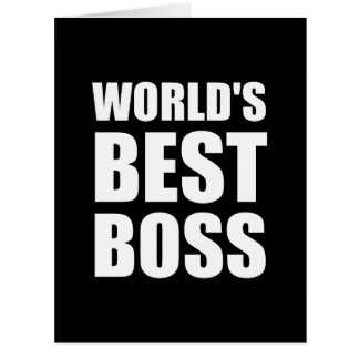 Worlds Best Boss Big Greeting Card