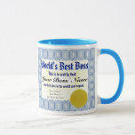 World's Best Boss Certificate Mug