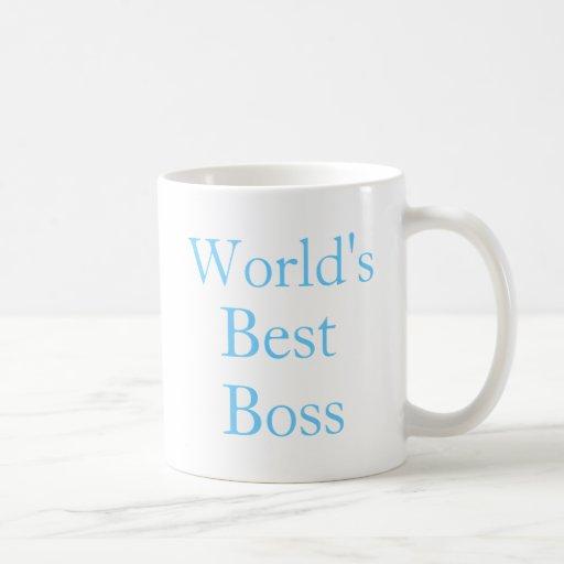 Worlds Best Boss Classic White Coffee Mug