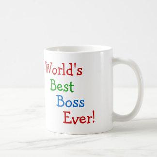 World's best boss ever basic white mug