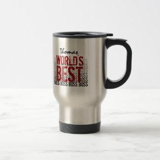 World's Best Boss Grunge Lettering Stainless Steel Travel Mug