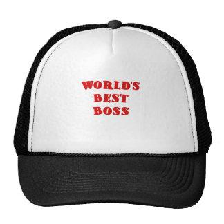 Worlds Best Boss Mesh Hat