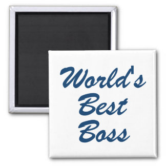 Worlds Best Boss Square Magnet