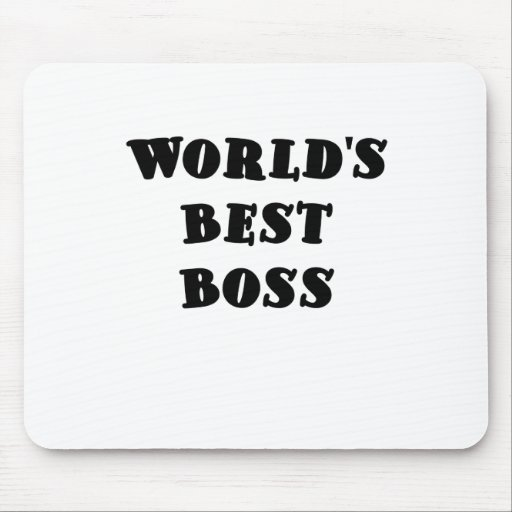 Worlds Best Boss Mouse Pad