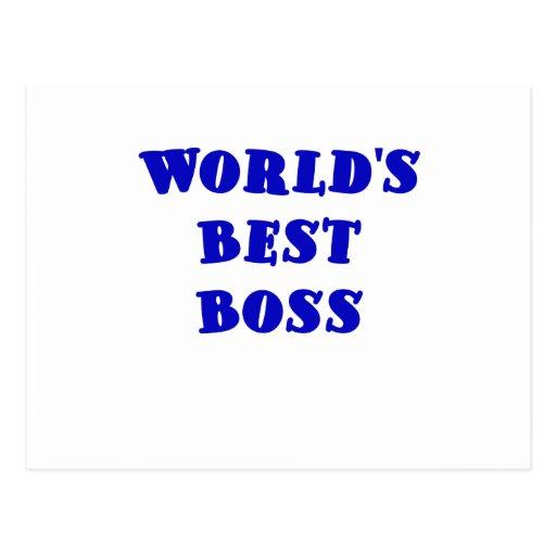 Worlds Best Boss Post Cards