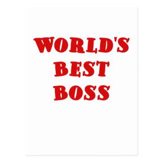 Worlds Best Boss Post Card