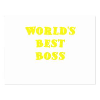 Worlds Best Boss Postcard