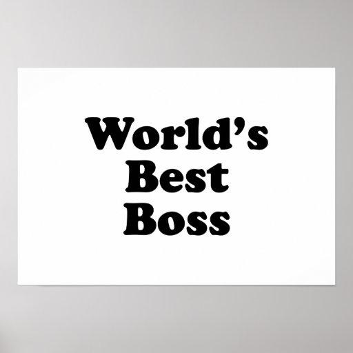 World's Best Boss Print