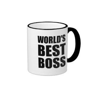 Worlds Best Boss Ringer Mug