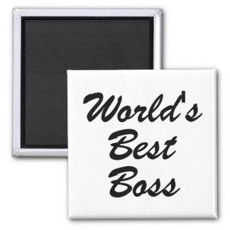 Worlds Best Boss Square Magnet