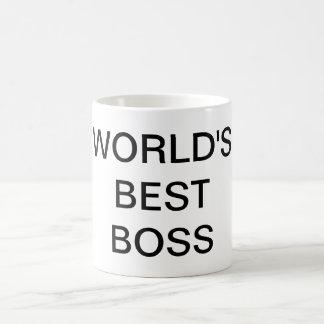WORLD'S BEST BOSS Text Coffee Mug Drinkware