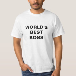 WORLD'S BEST BOSS Text T-shirt National Boss Day