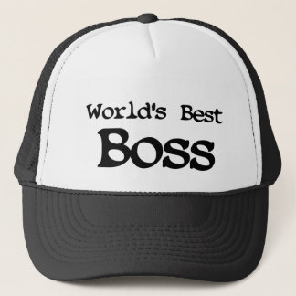 Worlds Best Boss Trucker Hat