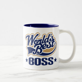 Worlds Best Boss Two-Tone Coffee Mug