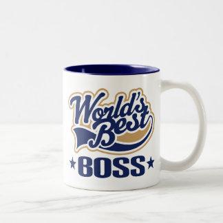 Worlds Best Boss Two-Tone Coffee Mug