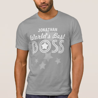World's Best BOSS with Stars and Custom Name V01C1 T-Shirt