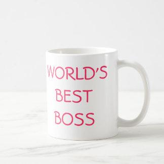 WORLD'S BEST BOSS, YOU'RE THE BASIC WHITE MUG