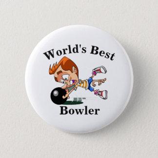 World's Best Bowler 6 Cm Round Badge