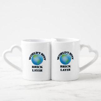 World's Best Brick Layer Couple Mugs