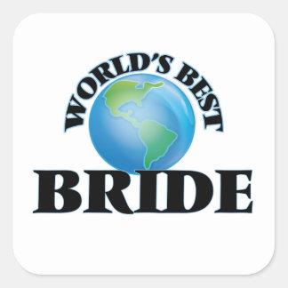 World's Best Bride Square Sticker