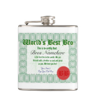 World's Best Bro Hip Flask
