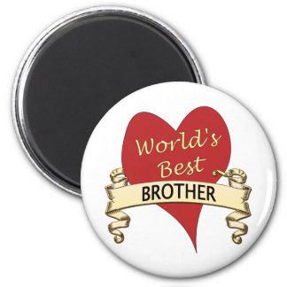 World's Best Brother 6 Cm Round Magnet