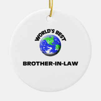 World's Best Brother-In-Law Round Ceramic Decoration