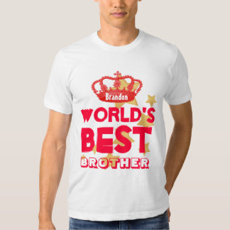 World's Best BROTHER Red Crown and Stars V09 Tee Shirt