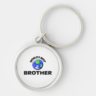 World's Best Brother Silver-Colored Round Key Ring