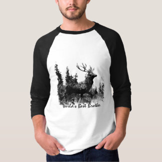 World's Best  Brother Vintage Stag Deer Animal T-Shirt