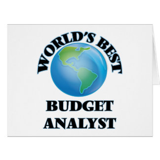 World's Best Budget Analyst Greeting Cards