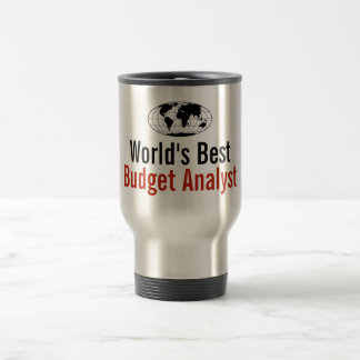 World's Best Budget Analyst Stainless Steel Travel Mug