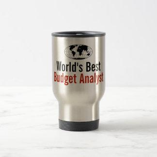 World's Best Budget Analyst Travel Mug