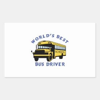 World's Best Bus Driver Rectangular Sticker
