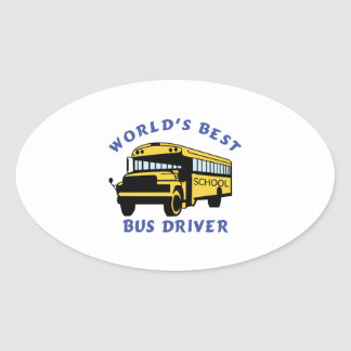 World's Best Bus Driver Oval Sticker
