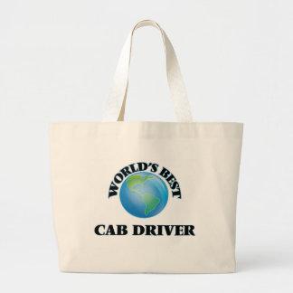 World's Best Cab Driver Canvas Bag