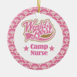 Worlds Best Camp Nurse Christmas Ornament