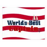 Worlds Best Captain Postcard