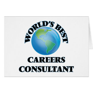 World's Best Careers Consultant Card