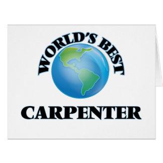 World's Best Carpenter Greeting Card