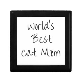 World's Best Cat Mom - Black Gift Box