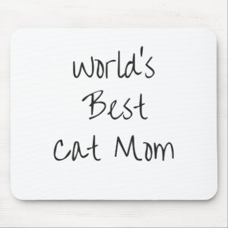 World's Best Cat Mom - Black Mouse Pad